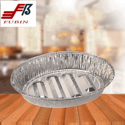 475x335mm Oval Foil Trays Alloy 8011 Tin Foil Serving Trays
