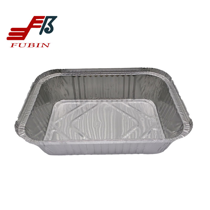 1.8lbs Rectangular Foil Trays 220x160mm Oil Resistance
