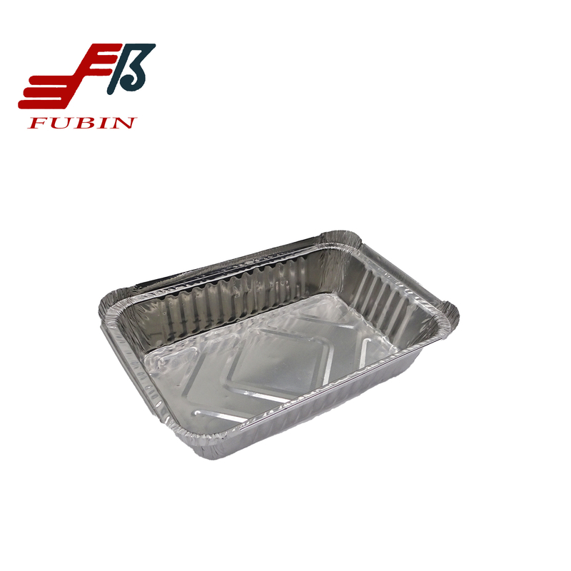 100 Recycled 1.65lbs Aluminum Trays For Food Rectangle