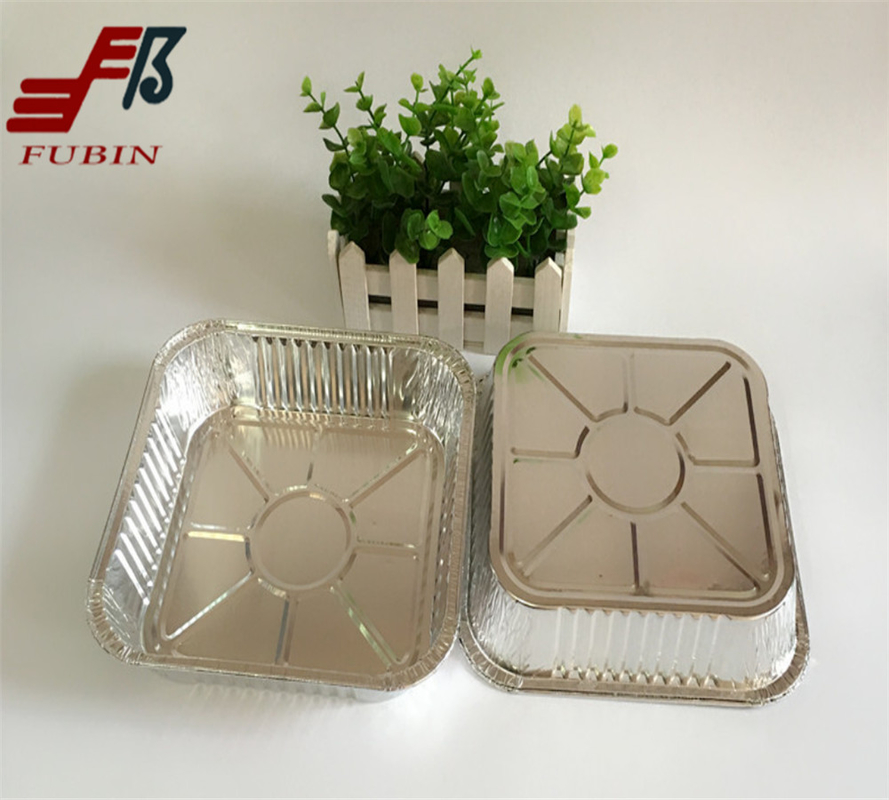 Thermal Insulation 8 Inch Square Foil Tray FDA certificate