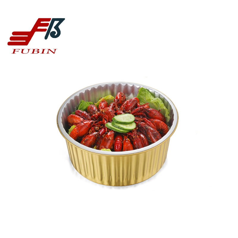 Gold Alloy 8011 Airline Meal Tray for Food Packaging
